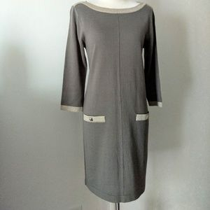Nine West gray and silver knit dress